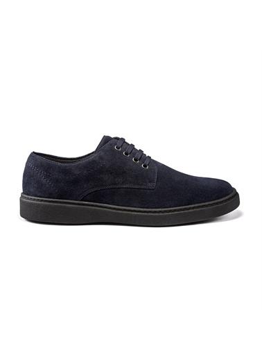 Frau Mavi Erkek Sneaker 19A4  Laced Shoes  Rubber Suede  Mavi